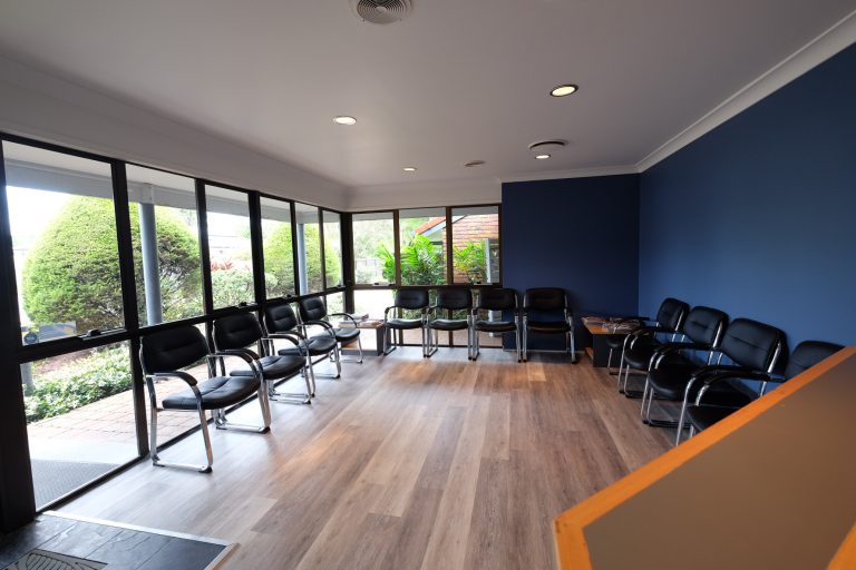 Our air conditioned waiting room at Loganholme Dental Centre. Say G'day to our friendly reception and take a seat!